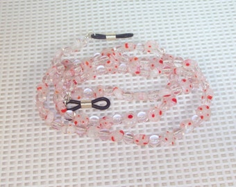 Pink Mille Fiori Glass - Eyeglass Necklace