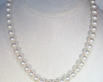 Swarovski Bridal Set -  SWAROVSKI CREAM/IVORY Necklace & Earrings - Made to Order - Any Color