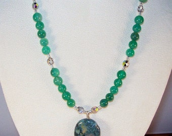 Green Agate and Fancy Jasper Necklace