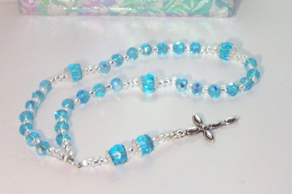 Celestial Crystal Rosary - Anglican - Made to Order - Any Color