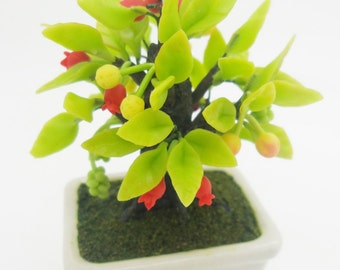 Miniature Polymer Clay Flowers Supplies Mixed Fruits Bonsai 1 piece