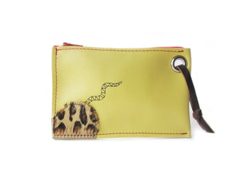 yellow leather wallet mouse