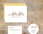 Pregnancy Announcement Cards . Expecting Baby Cards . Pregnancy Announcement  - Growing Family of Bikes