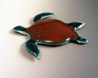 """OOAK Unique Sea Turtle Magnet 2.5"""" Long Lovely"""