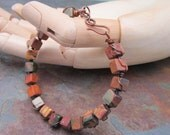 Men or Women's Red Creek Jasper Gemstone Bracelet, Marta Weaver Jewelry