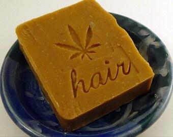 Citrus Bay Rum Patchouli Shampoo bar - Hemp Oil shampoo bar - Vegan Shampoo Bar - Sample Size