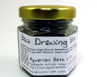 Black Drawing Salve - Herbal Salve with Tea Tree essential oil 1.5 oz