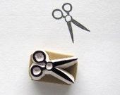 Small scissors rubber stamp