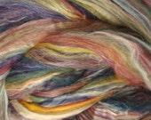 Jamaica/ Fine Merino Wool/ Tussah Silk/ Combed Top/ 8 oz/ Spinning Top/ Felting/ Needle Felting/ Alba Ranch/ Blended Fiber/Spinning Roving