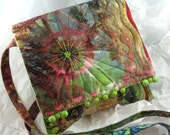 Quilted Crossbody Purse, Fibre Art Purse