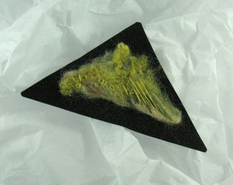Unique Fiber Art Felt Brooch, Forest Floor