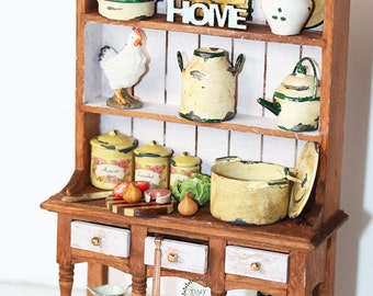 Rustic Cupboard - Lovely 1:12 scale baking cupboard country style