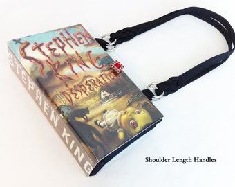 Desperation Recycled Book Purse - Apocalyptic Book Bag - Horror Genre Gift - Stephen King Collector Item - Stephen King Book Clutch