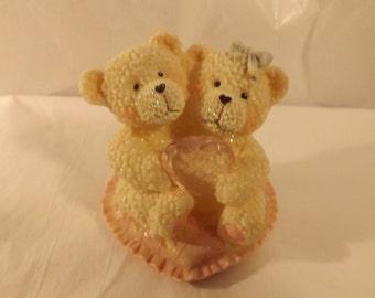 FREE SHIPPING Bear figurine couple love (Vault 9)
