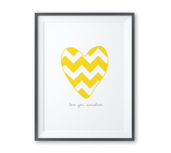 Love You Sunshine | A4 Print | Unframed | Wall Art | Love | Toodles Noodles