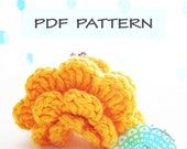 5cm Frame Petal Coin Purse CROCHET PATTERN - classic floral ruffle cute keychain wedding ring box bag gift easy fast quick instant download