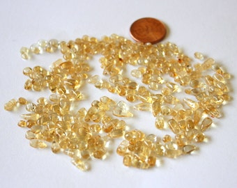 Citrine  smooth rondelles and drops 3mm to 7mm DESTASHING CLEARANCE