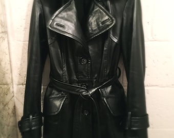 Tailor made trench coat revisited lambskin leather jacket sizes  S, M, L and Xl,