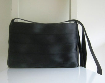 Seat Belt Messenger in Black