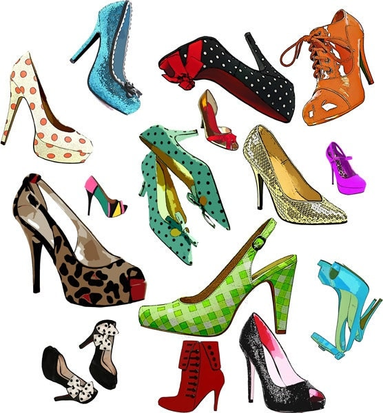 high heel shoes collage clip art png by digitalgraphicsshop