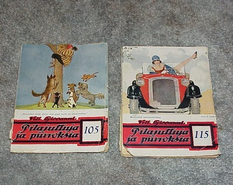 1927 & 1928--Finnish Cartoon--Comedy Books--Finland--Pilajuttuja ja piirroksia--Series