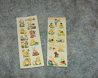 2--Vintage--Sheets--ARDEN Milk Company--Easter Egg Decals--Promotional--1951 & 1954