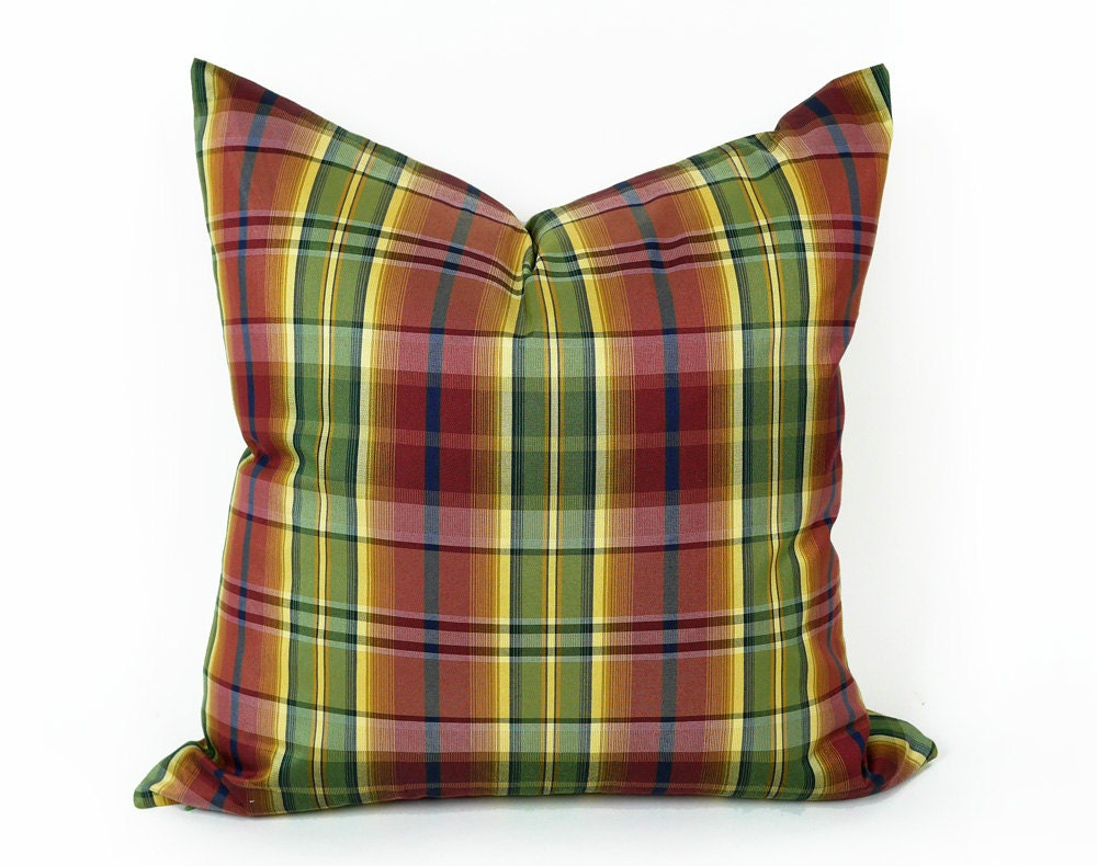 Green Plaid Throw Pillow : Country Plaid Pillow Cover Red Green Plaid Throw Pillow