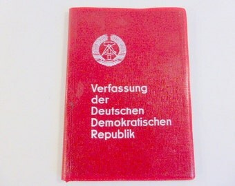 Vintage Constitution of the German Democratic Republic, Verfassung der Deutschen Demokratischen Republik