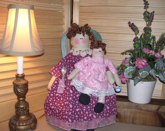Dolls Angels Just Tea for Two Fabric Dolls