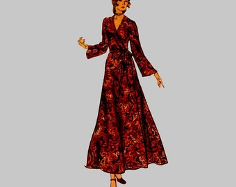 1970 Front Wrap Dress Vogue 8437 Sewing Pattern  Bust 32 1/2 Size 10