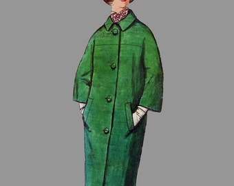 1964 Coat pattern Simplicity 5560 Single or double breasted Size 14 Bust 34