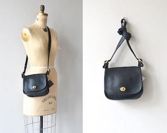 Coach 'Rambler's Legacy' saddle bag | vintage Coach leather purse | black leather shoulder bag