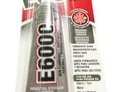 E6000 Adhesive, 3.7 Fluid Ounce CLEAR TRANSPARENTE