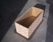 Woven Leather Baskets with Plywood Box Insert