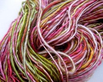 handspun vegan yarn, Bamboo Rose