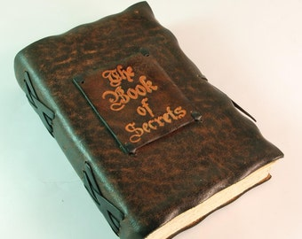 Book of Secrets Natural leather bound diary/ journal
