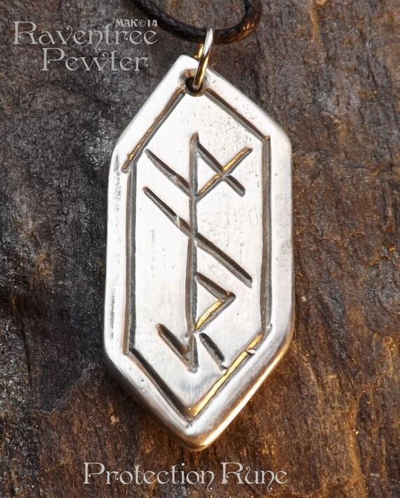 protection rune pendentif tain nordique norse bijoux. Black Bedroom Furniture Sets. Home Design Ideas