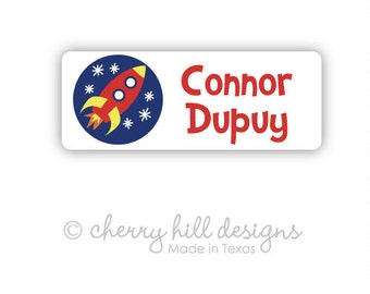 ROCKET Iron-on clothing and fabric labels - set of 42 (smallest set) - several template options