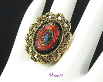 Ring Sarah Coventry Old Vienna gold Tone