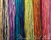 Hand Dyed Silk Ribbon - Silk Cord - DIY Craft - Jewelry Supplies - Wrap Bracelet - Craft Supplies - 2mm Silk Cord Strand You Pick the Colors