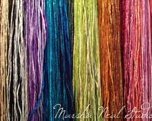 Hand Painted Silk 2mm Silk Cord for Jewelry Making Craft Supplies You Pick the Color and Quantity Bracelet Supplies
