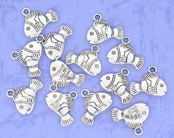 Fish/Clown Fish Charms - Set of 6 - #F118
