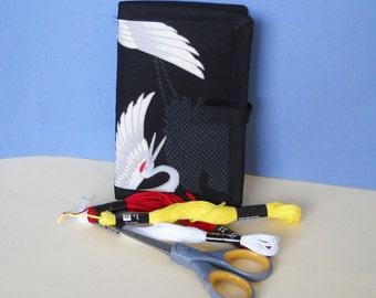 Flying Crane Needle Book, Needle Case, Sewing Organizer
