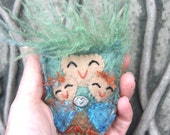 Mother Owl Talisman ...Mothers Love eco friendly wool Mothers Day (woolcrazy)