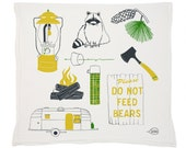 Camping Tea Towel