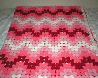 Crochet Afghan Handmade Throw Blanket Lap Blanket