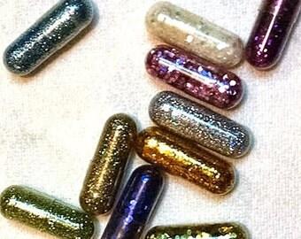 Glitter Pills, Glitter Pills, Multicolor, Glitter in Lace Bag with pull string. New Years Favor, Gag Gift, Raver Gift, Glitter....