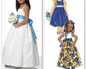 GIRLS DRESS PATTERN / Retired /  Make Girls Fancy Dress / Flower Girll / Toddler 3 to Child 8