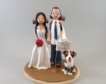 Wedding Cake Topper - Bride & Groom Customized Hiking Theme