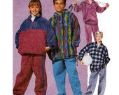 Kids Tracksuit Sewing Pattern - McCalls 7324 - Kids Pullover Top, Pants Pattern - Uncut, FF